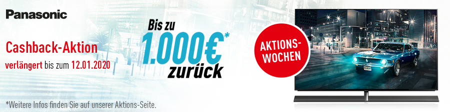 Panasonic Cashback Aktion Winter 2020