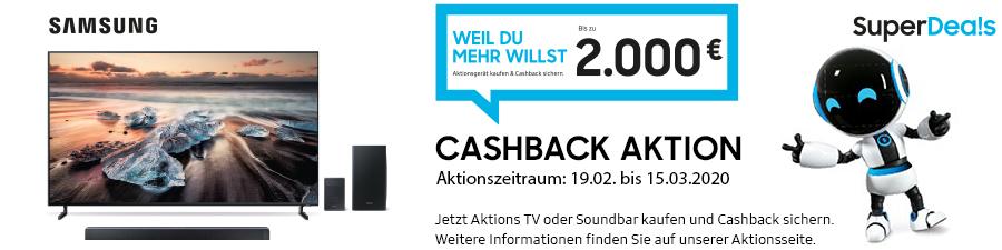 Samsung SuperDeals Cashback Aktion vom 19.02.bis 15.03.2020