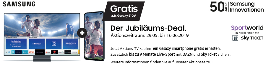 Samsung TV Aktion: Gratis Galaxy Smartphone