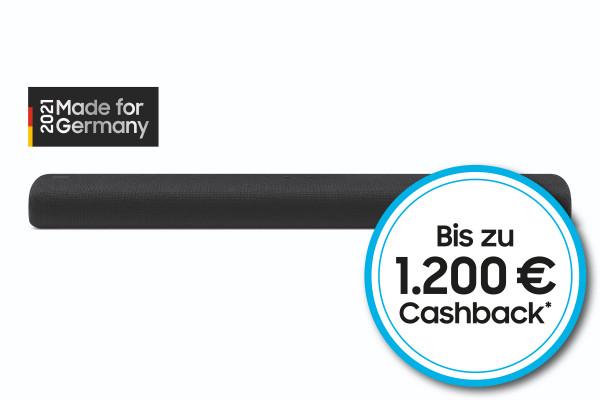 Samsung SuperDeals Cashback Aktion: Samsung HW-S60A/ZG - Schwarz - Ansicht vorne 1