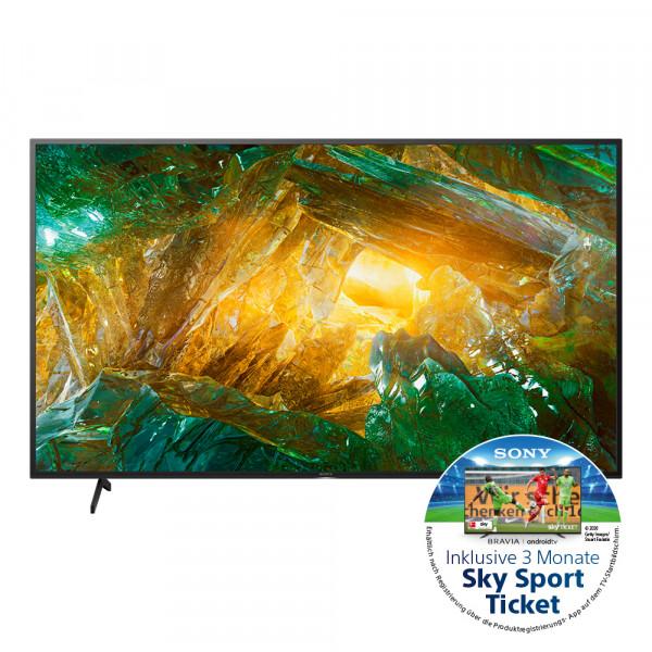 Sony Aktion: Sony XH80 KD-49XH8096BAEP - 4K LED TV - Ansicht vorne 1
