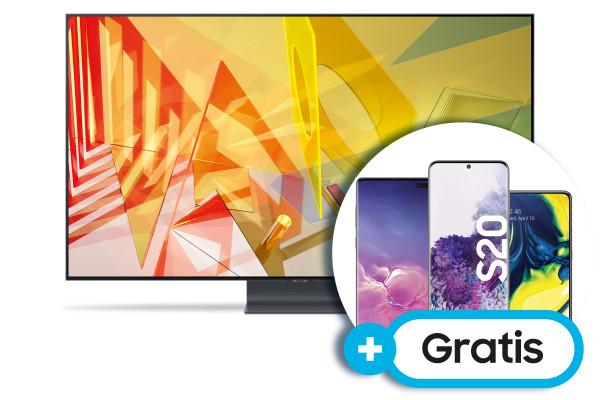 Samsung Aktion Juli 2020: Samsung Q95T GQ65Q95TGTXZG - 4K QLED TV - Ansicht vorne 1