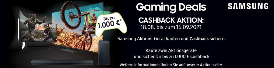 Samsung Gaming Deals Cashback Aktion