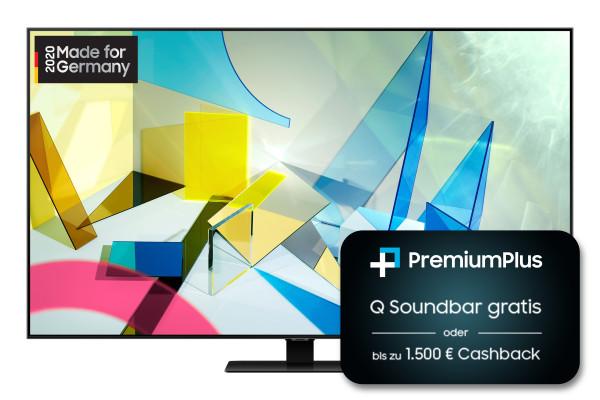 Samsung PremiumPlus Aktion: Samsung Q80T GQ85Q80TGTXZG - 4K QLED TV