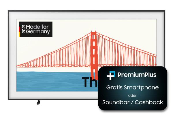 Samsung Premium Plus Aktion: Samsung The Frame GQ65LS03AAUXZG Ansicht vorne