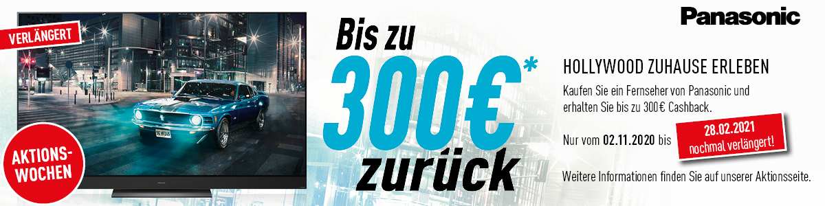 Panasonic Cashback Aktion 2021