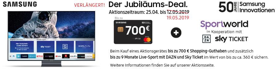 Samsung Jubiläums-Deal Aktion vom 25.04. bis zum 19.05.2019 verlängert!