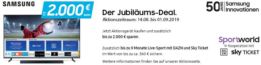 Samsung Jubiläums-Deal Aktion vom 14.08. bis 01.09.2019