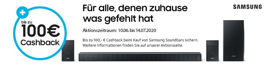 Samsung Aktion Juli 2020: Cashback für Soundbars