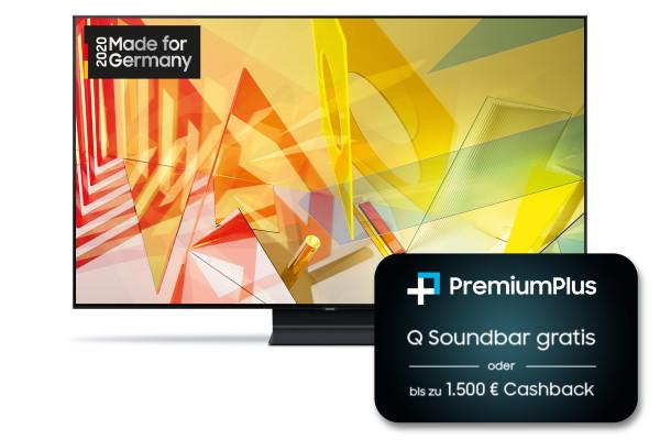 Samsung PremiumPlus Aktion: Samsung Q90T GQ75Q90TGTXZG - 4K QLED TV