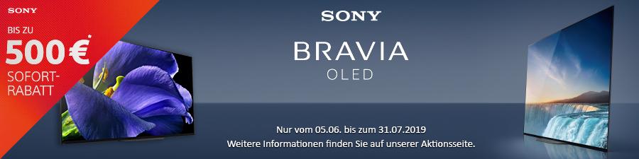 Sony OLED Tv Aktion mit bis zu 500,-€ Sofort-Rabatt