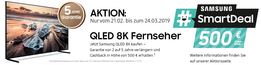 Samsung #smartdeal 8K TV Aktion