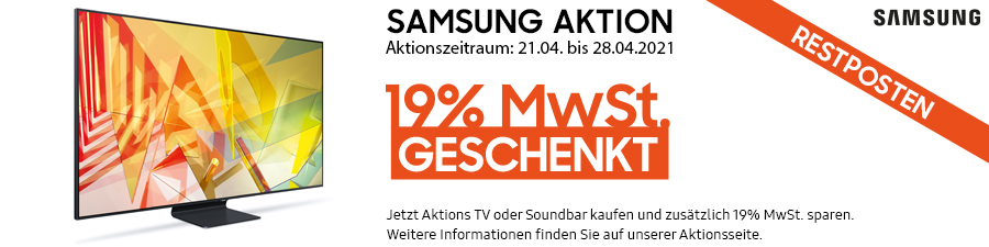 Samsung MwSt. Aktion April 2021