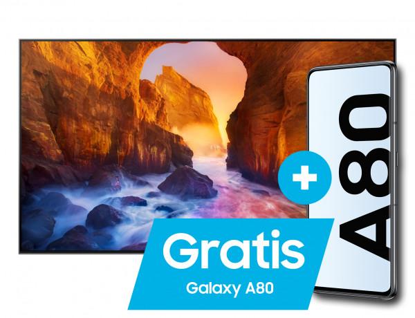 Samsung Aktion: Gratis Galaxy A80: Samsung Q90R - GQ55Q90RTXZG - Ansicht vorne