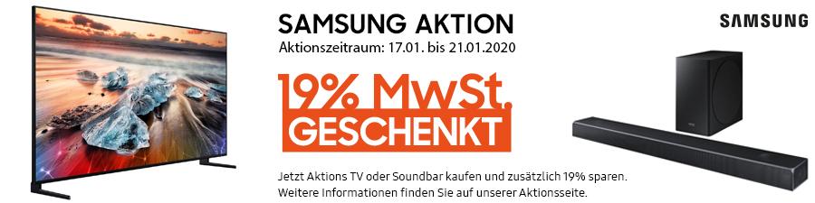 Samsung Aktion: 19% MwSt. geschenkt