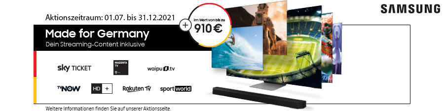 Samsung Made for Germany - Dein Streaming Content inklusive