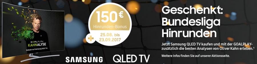 Samsung QLED TV Aktion - 150,- geschenkt