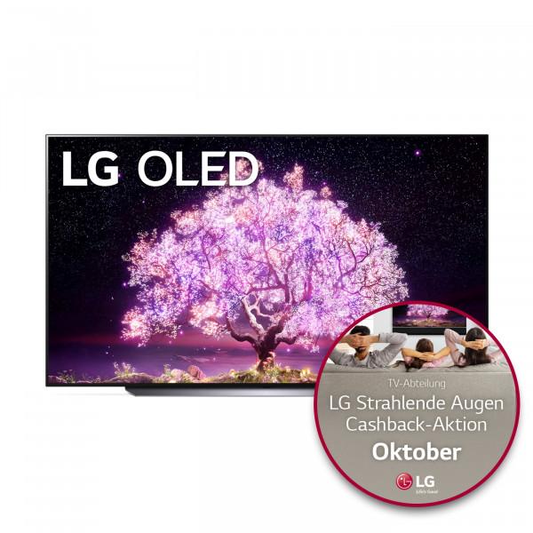 LG Cashback Aktion: LG OLED77C18LA - OLED TV C18 - Ansicht vorne