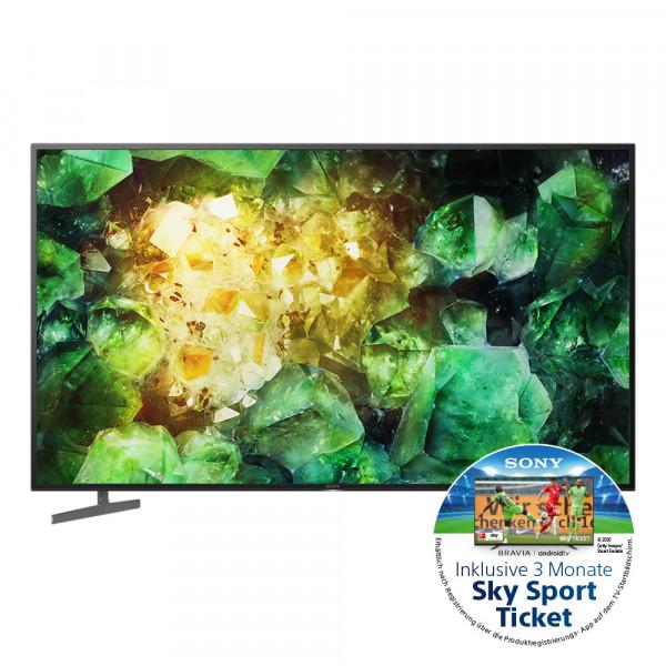 Sony Aktion: Sony XH81 KD-49XH8196BAEP - 4K LED TV - Ansicht vorne 1