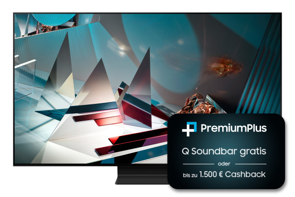 Samsung PremiumPlus Aktion: Samsung Q800T GQ65Q800TSTXZG - 8K QLED TV