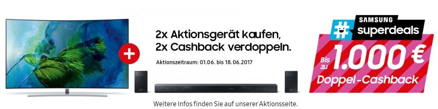 Samsung #superdeal Cashback Aktion Juni 2017