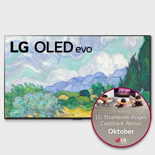 LG Cashback Aktion: LG OLED55G19LA - OLED TV G19 - Ansicht vorne